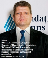 "Intervio.ro - DANIEL SEIBERLING, Regional Manager of Hanns Seidel Foundation: ""DGA and DNA have immensely contributed to the much improved image of Romania`s fight against corruption."""